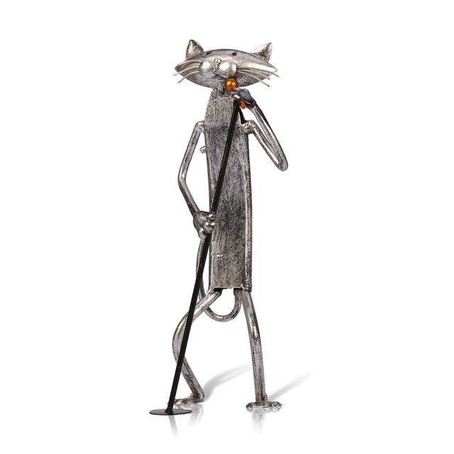 Tooarts Metal Figurine pop A Playing Guitar Saxophone Singing Cat Figurine Furnishing Articles Craft Gift For Home Decoration 4