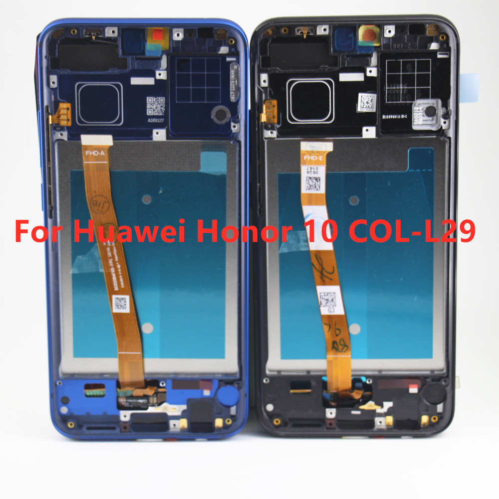 Original Tested with Fingerprint For Huawei Honor 10 honor10 COL L29 LCD Display Touch Screen Digitizer