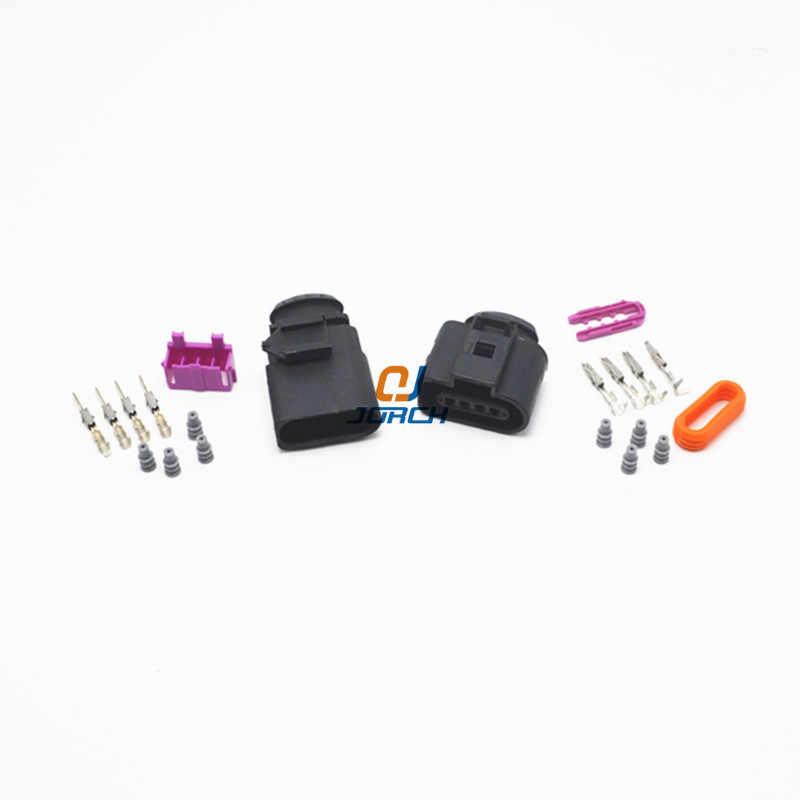 1 комплект 4 Pin way 1,5 мм Авто Датчик температуры разъем водонепроницаемый Электрический провод разъем для VW автомобиль грузовик 1J0973804 1J0973704