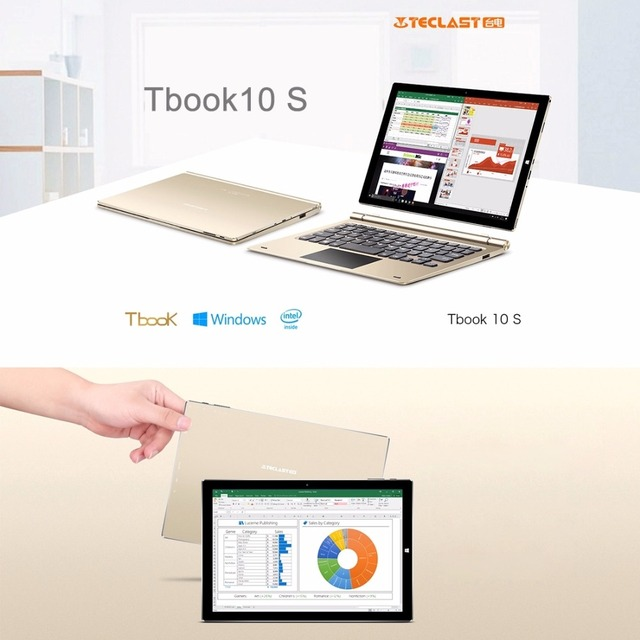 Original Teclast Tbook 10 S 10.1 inch Tablet PC Intel Cherry Trail X5 Windows 10 Home + Android 5.1 Dual OS tablets 4GB 64GB OTG 4