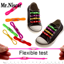 5 Bags/30 Piece Children Adult General Lazy Shoelaces No Tie Shoelaces Love Heart Design Elastic Silicone Shoe Laces