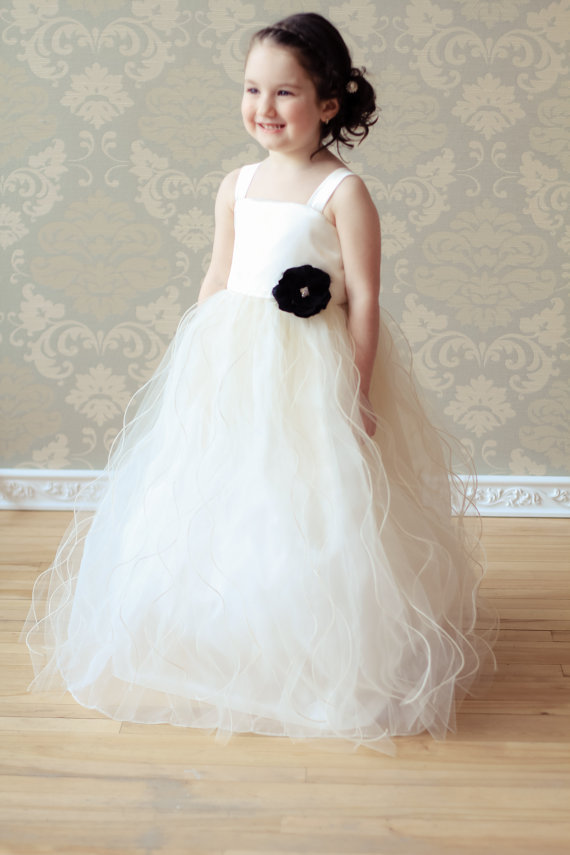 Straight Flower Girls Dresses For Wedding Gown Sleeveless Custom Communion Dresses Long Mother Daughter Dresses For Girl Party