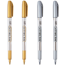 1pcs/lot Paint pen metal color pen technology gold and silver 1.5mm up paint pen student supplies mp550 free shipping