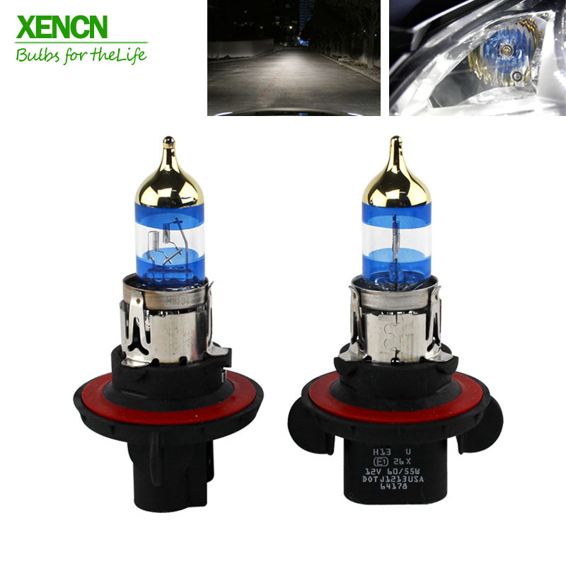 XENCN H13 12V 60/55W P26.4t 4300K Gold Diamond Car Headlight Halogen Bulb UV Filter Germany Quality Auto lamp DOT EMARK xencn h7 px26d 12v 100w 3200k clear series off road standard car headlight halogen bulb uv quartz brand auto lamp for mazda cx 5