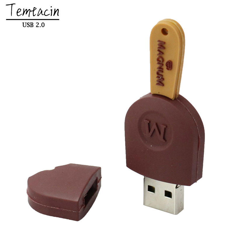 Lifelike Chocolate Ice Cream PVC USB 2.0 Flash Drive 64 GB 32 GB 16 - Extern lagring - Foto 6