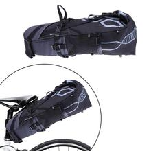 Large capacity 3-10L Bicycle Saddle Bag Bike Tail Seat Waterproof Cycling Storage Bags Heavy Load Bicycle Rear Pack 63*28*14cm