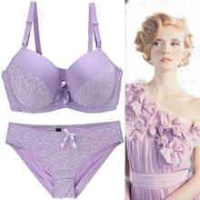ec9e4402f1 2018 Bra Sets For Women Plus Size D DD E Cup Brassiere Lace Luxury Sexy  Underwear Underwire Push Up Bra Set Big Size Panties