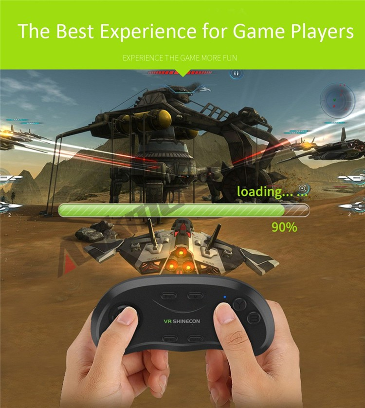 New Original VR Shinecon Bluetooth Remote Controller Wireless Gamepads Mouse Selfie Shutter 3D Game for Smartphone Tablet TV BOX (2)