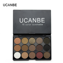 UCANBE Brand 5 Styles New 15 Earth Color Matte Pigment Glitter Eyeshadow Palette Brick Red Eye Shadow Palettes Makeup Set