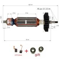 AC220 240V Armature Anchor Replace for MAKITA GA5030 GA4530 GA4030 GA5034 GA4534 GA4031 PJ7000 GA4030R GA4034 Engine Rotor