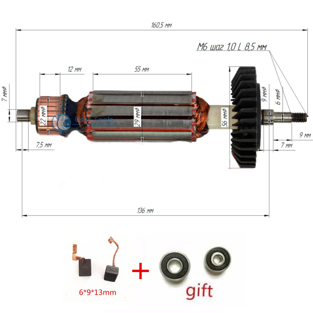 AC220-240V Armature Anchor Replace For MAKITA GA5030 GA4530 GA4030 GA5034 GA4534 GA4031 PJ7000 GA4030R GA4034 Engine Rotor