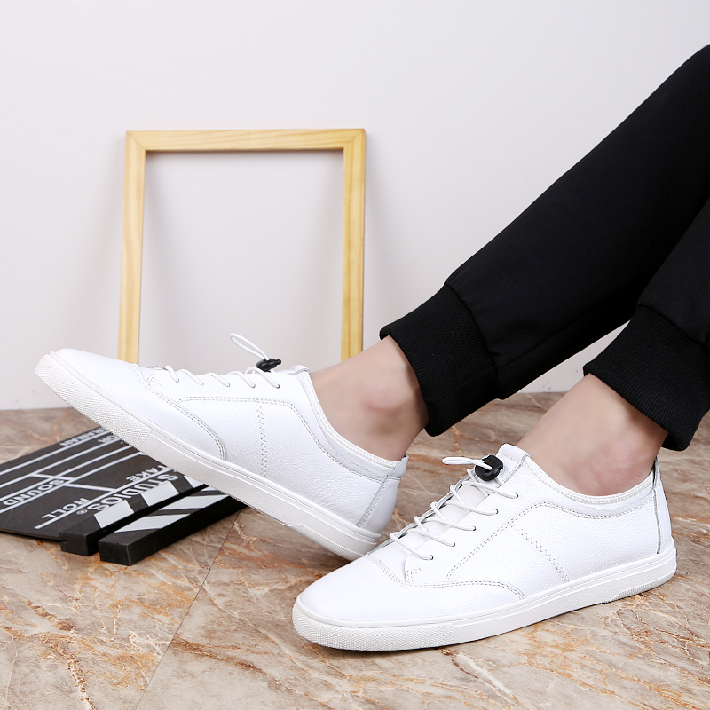 Fashion Men Shoes Lace up Men Casual Shoes Loafers Natural Leather sneakers Outdoor Flats Shoes for Men Dropshipping in Men 39 s Casual Shoes from Shoes