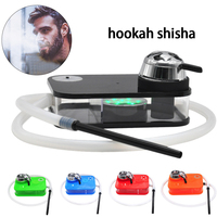 Modern Acrylic Arab Hookah Set with Led Lamp Portable Box Durable heating Control Include Shisha Bowl Silicone Pipe Gifts