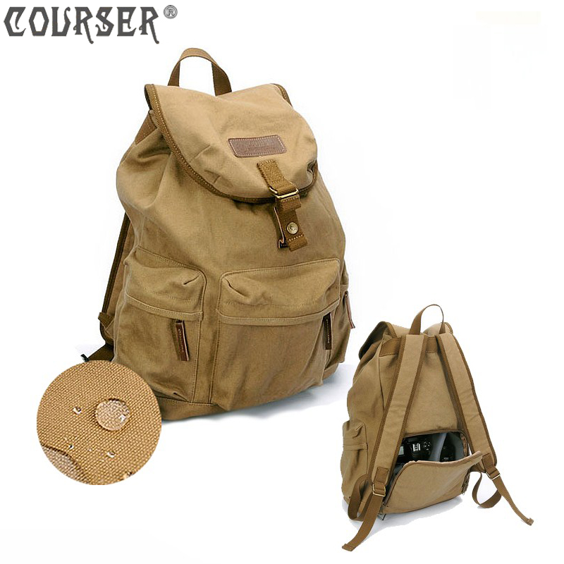 Lightupfoto Camera Backpacks canvas bags camera protection canvas backpacks for outdoor shooting khaki PACPF2003