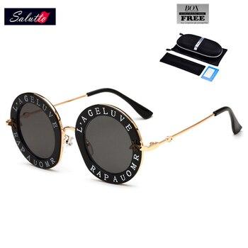 SALUTTO Brand Ronde Zonnebril vrouwen 2018 Nieuwe Mode Designer Persoonlijkheid Onregelmatige frame goggle hoge kwaliteit zonnebril