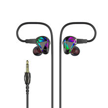 In Ear Earphone HiFi Metal Graphene Earphone Balanced Armature Dynamic Driver 2Pin Detachable Bass Headphone Sports Headset