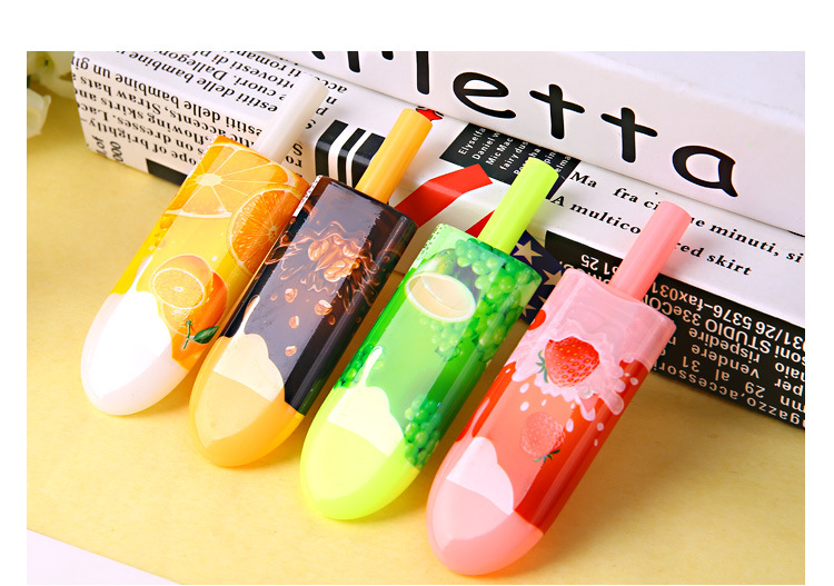 48pcs/lot 11CM Novelty Small Fruit Popsicles Ink Writing Gel Pens Study Materials Kids Birthday Party Take-home Gift Favor