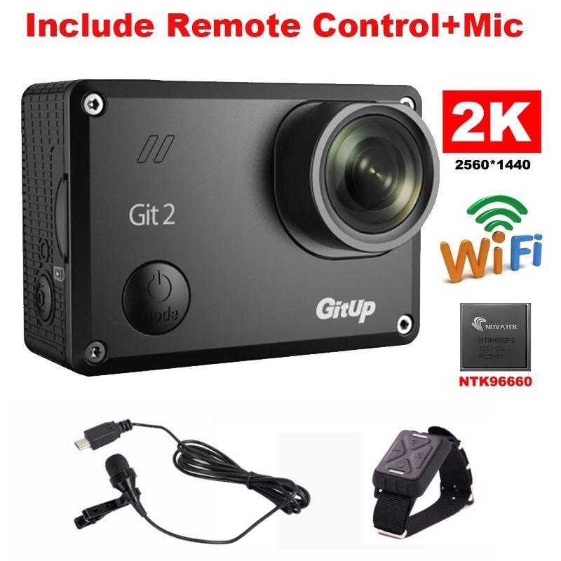 Gitup Git2 Новатэк 96660 1080 P Wi Fi 2 К Спорт на открытом воздухе действие Камера + микрофон + пульт дистанционного Управление Бесплатная доставка