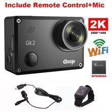 Gitup Git2 Novatek 96660 1080P WiFi 2K Outdoor Sports Action Camera+Mic+Remote Control Free Shipping