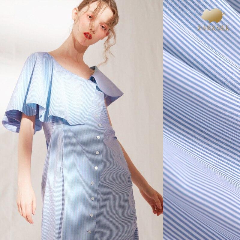 Bleu soie impression numérique soie crêpe de chine tissu sable lavage drapé chemise robe 100 soie tissu en gros soie tissu
