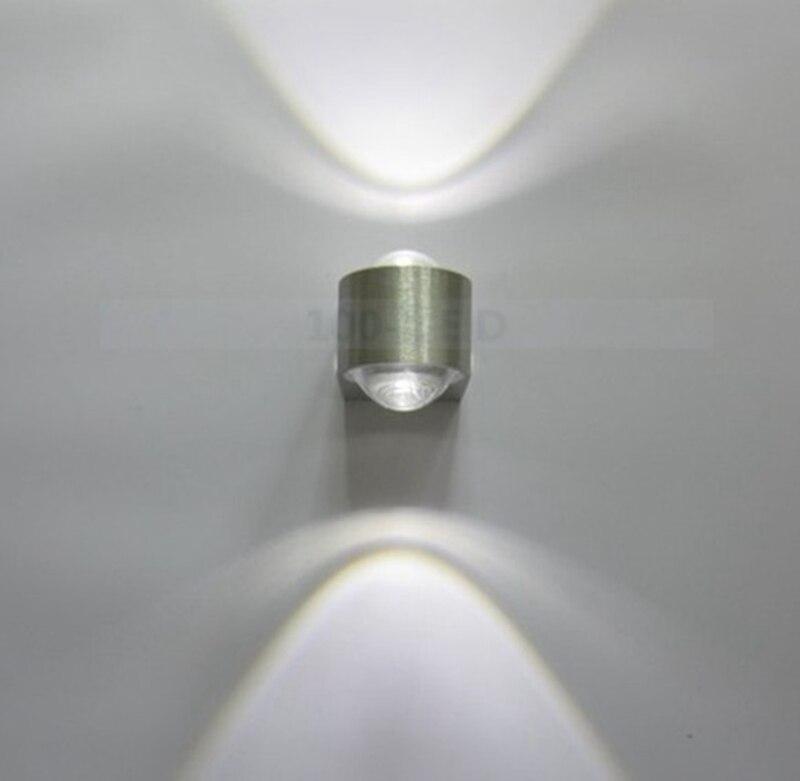 Оптовая продажа (6 шт./лот) 2 Вт Светодиодный светильник стены серебро современный минималистский спальня света AC85 ~ 265 В ...