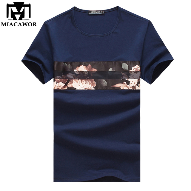 563bb1f69b9 Plus Size 5XL Summer Tshirt Homme 2018 New Fashion Flower Print Men s T-shirts  Short Sleeve Casual Man Tops   Tees MT515