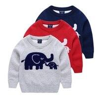 High Quality Baby Boys Jumper Autumn Winter Cartoon Sweaters Children Kids Knitted Pullover Warm Outerwear Babi