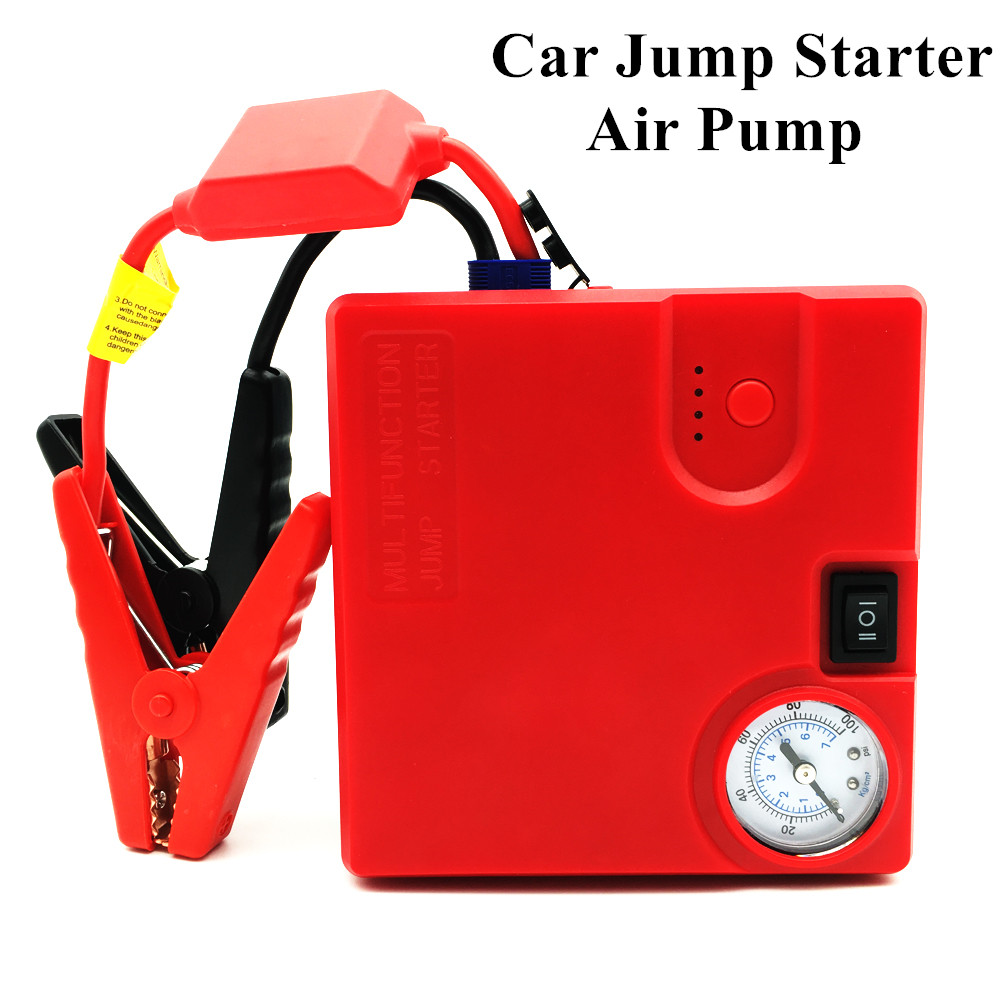 High Power Car Jump Starter Air Pump 16800mAh Emergency Starting Device Power Bank 12V Car Battery Booster Charger Car Starter automobiles engine portable 68800mah usb car jump starter emergency charger booster power bank battery with air pump set styling