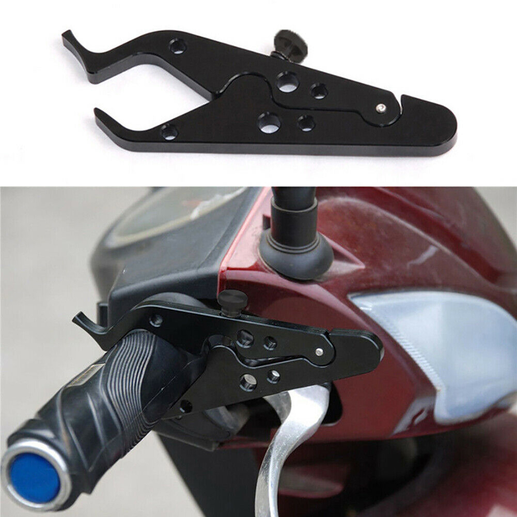 Universal Motorcycle Aluminum Lock Scooter Handlebar Safety Lock Brake Throttle Grip Anti Theft Protection Security Locks