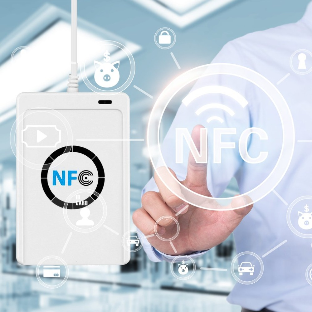 ACR122U RFID Card Reader Nfc Reader Module Rfid 125 Kc Rfid Programmer Duplicator Frequency Door Key Copier Programmer WriterUSB