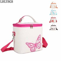 Korean Linen Heightening Thicker Insulation Package Lunch Bag Cooler Bags Fresh Refrigerated Box Big Capacity Travel