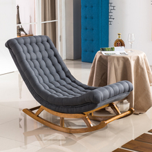 Louis Fashion Chaise Lounge Nordic Simple Modern Lazy Sofa Single Balcony Nap Gift for Footstool Pillow and Summer Sleeping Mat