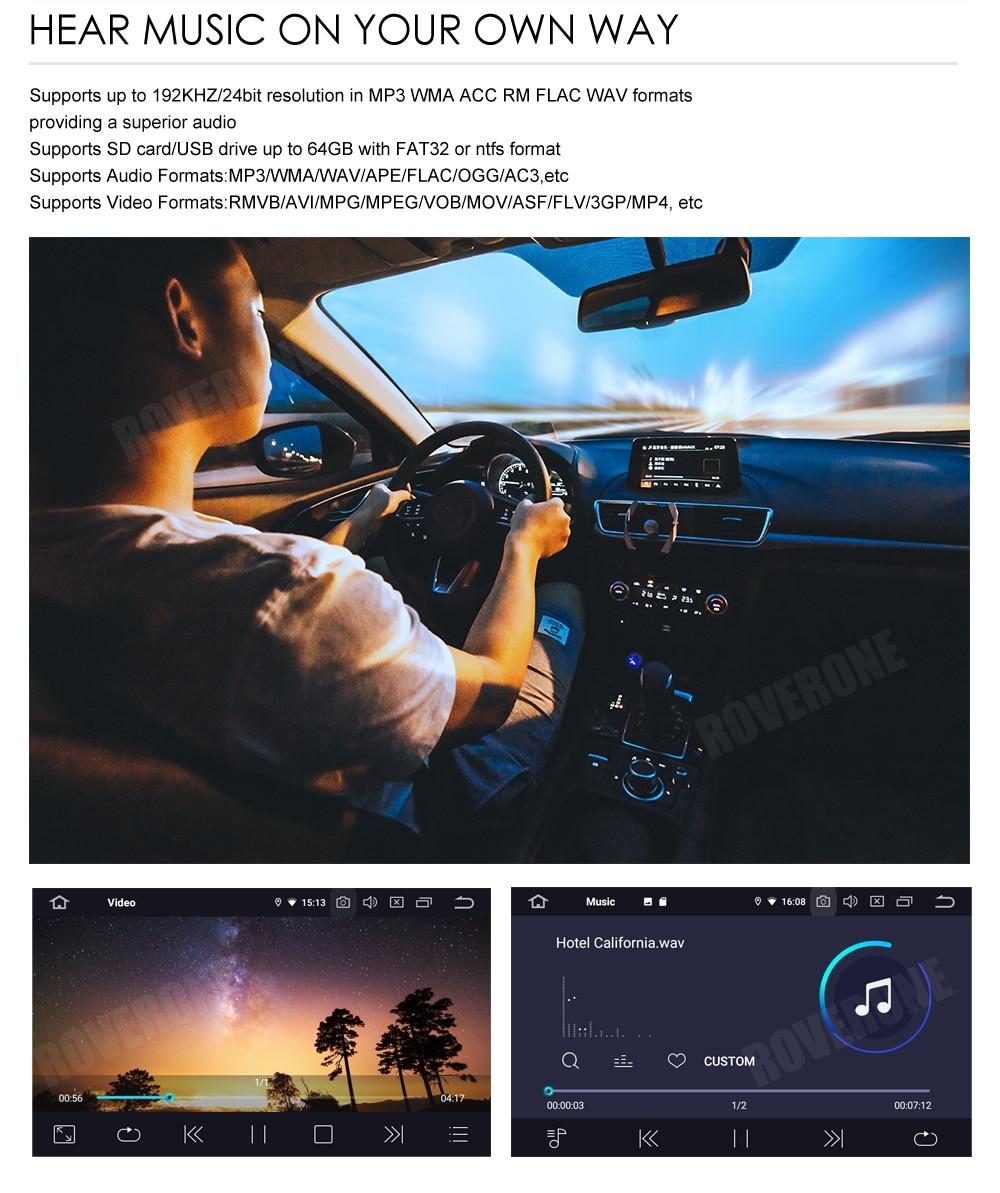 Perfect RoverOne Car Multimedia Player For Fiat Fiorino Qubo For Citroen Nemo For Peugeot Bipper Android 9.0 Octa Core Radio Navigation 19