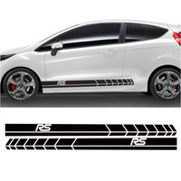 YONGXUN 2pcs FOR Ford Fiesta Side Racing Stripes Decal Graphics /Tuning Car Sticke DA 76422