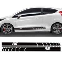 YONGXUN 2pcs FOR Ford Fiesta Side Racing Stripes Decal Graphics Tuning Car Sticke DA 76422