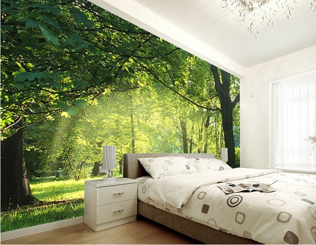 beibehang d papel pintado idlico paisaje natural flores dormitorio sala de estar papel tapiz de fondo