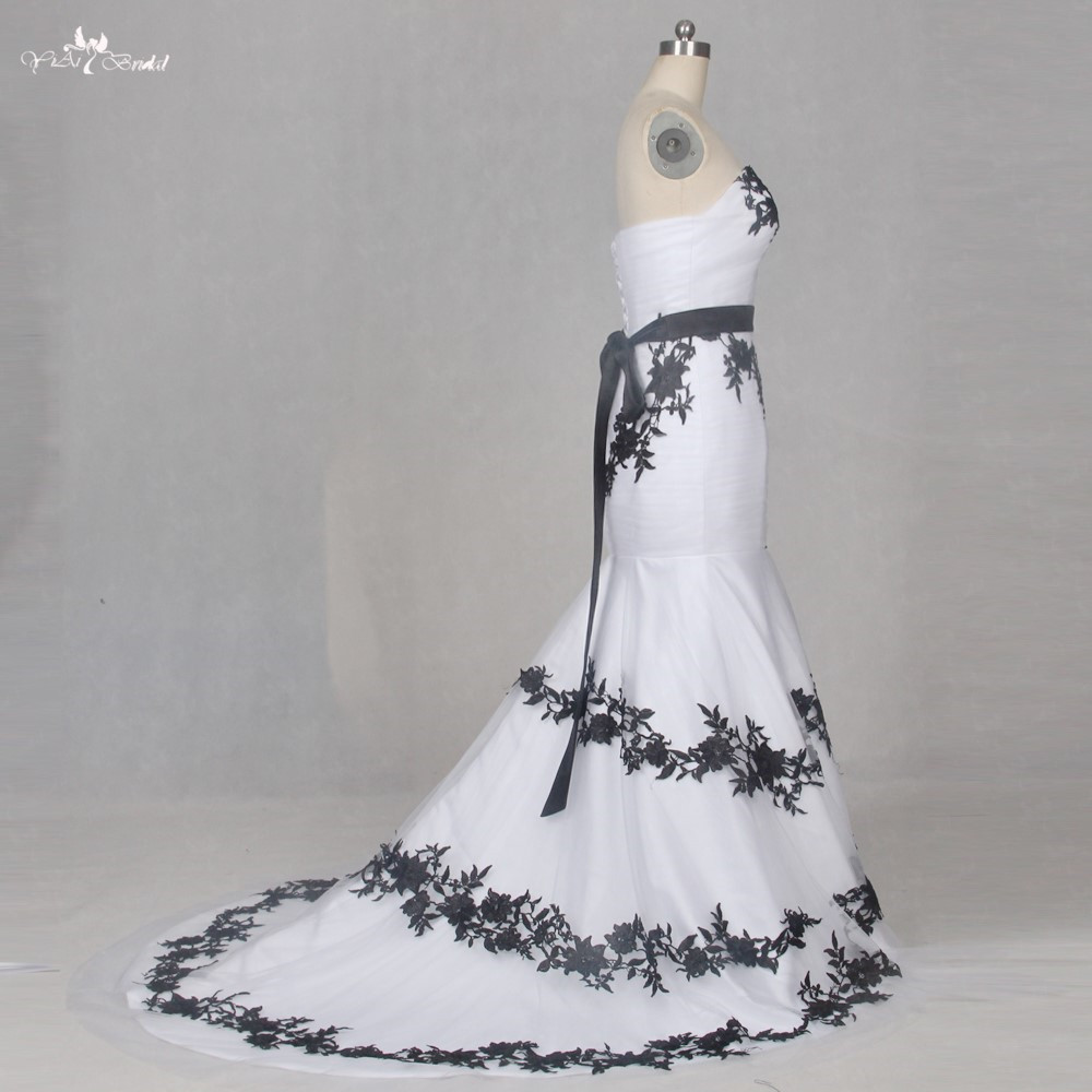 Goedkope trouwjurken zwart wit