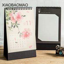 2019 Cute Cartoon Rabbit Forest Standing Desk Calendar Desktop To Do List Daily Planner Book Japanese stationery