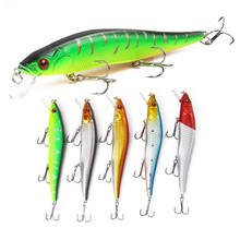 купить 5Pcs/lot 3D Eyes Floating Minnow Fishing Lure Bait For Sea River Hard Artificial Baits For Bass Fishing Carnkbait Pesca дешево