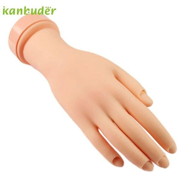 Pretty Flexible Soft Plastic Flectional Mannequin Model Hand Nail Art Practice Tool 1pcs