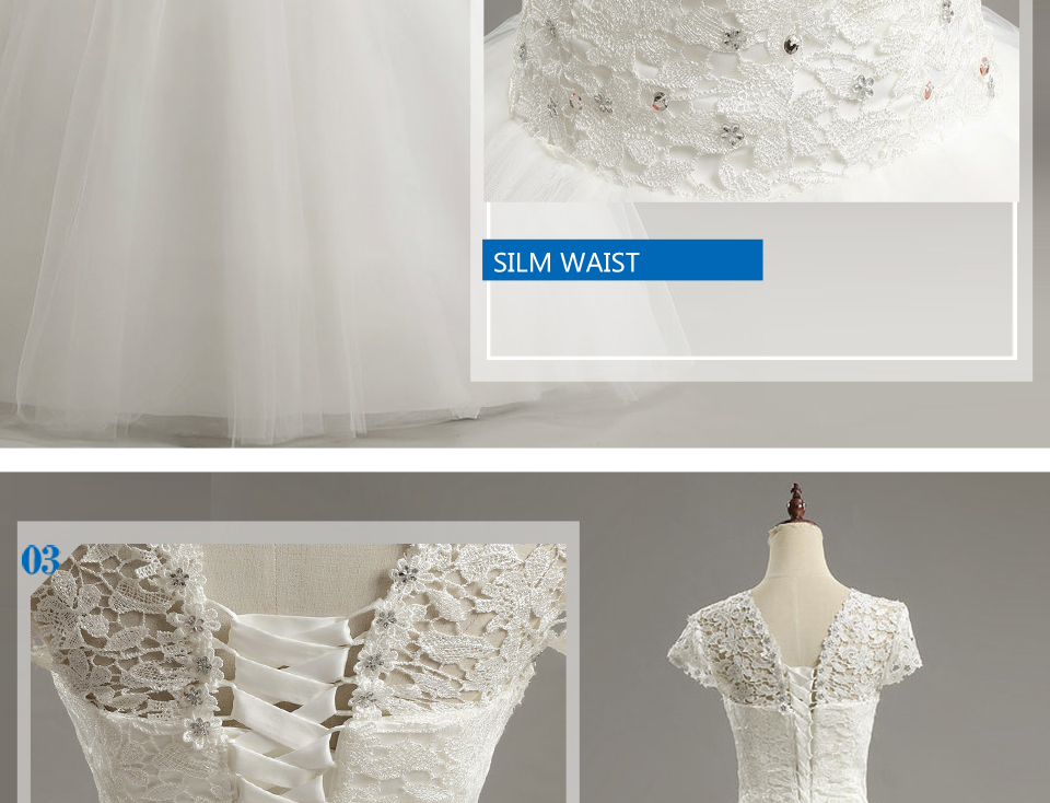 8 LAMYA Custom Size Romantic Lace Wedding Dress 2018 Fashionable Short Bride Gowns Cheap Bridal Dresses vestidos de novia