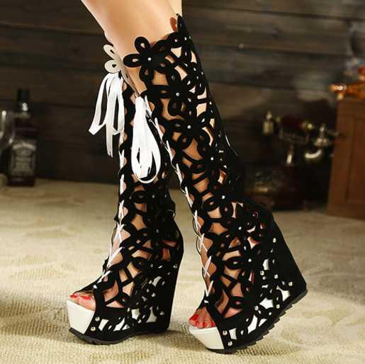 best website fbc08 004cf US $83.97 |2017new donne di estate zeppe piatte sandali scarpe in stile  europeo di modo aumentato sandali della bocca dei pesci scarpe da donna ...