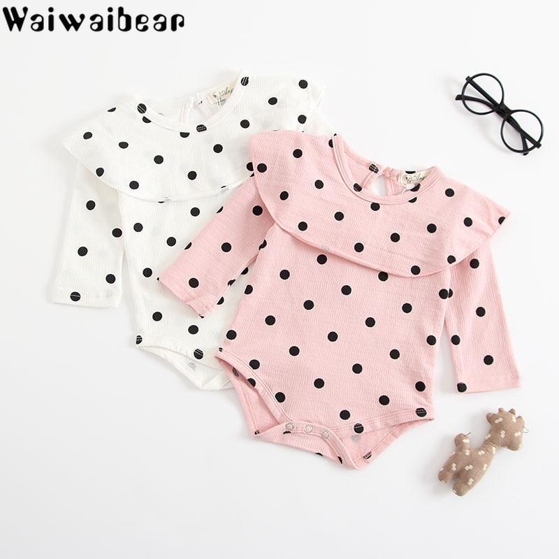 Waiwaibear Newborn Baby Girls Rompers Infant Long-Sleeved Jumpsuit Cotton Clothing ZHBB16