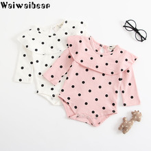 Waiwaibear Newborn Baby Girls Rompers Infant Long-Sleeved Jumpsuit Cotton Clothing ZHBB16