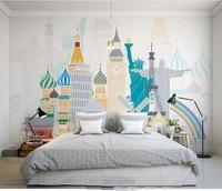 Custom Mural Wallpaper Room 3d Photo Wallpaper World Famous Landscape Painting Room Sofa TV Background Wall