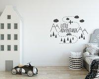Маленький авантюрист настенные Приключения Детская стены Стикеры Mountain для мальчиков и девочек игровая комната Украшение Лесной Nordic G81