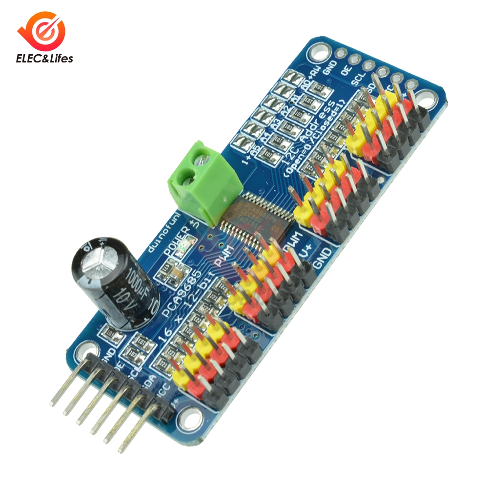 12-Bit <font><b>16</b></font> Channel PCA9685 Module PWM Shield <font><b>Servo</b></font> Motor <font><b>Driver</b></font> module I2C Interface For Arduino Smart Robot pca9685 <font><b>driver</b></font> board image