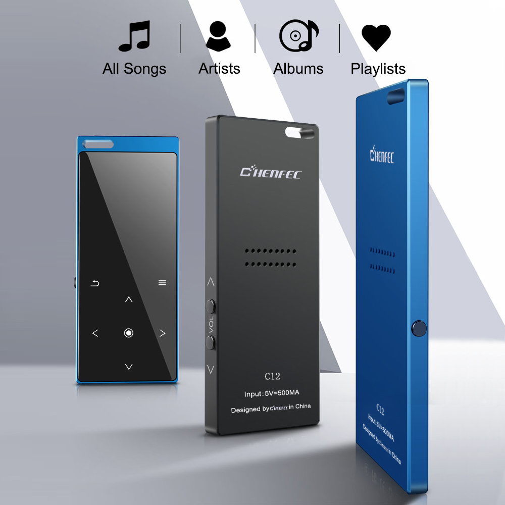 Image 4 - CHENFEC C12 Original MP3 Player with Bluetooth 4.0 Built in 8GB Speaker Music Player Support FM Radio Recording Hebrew RussianHiFi Players   -
