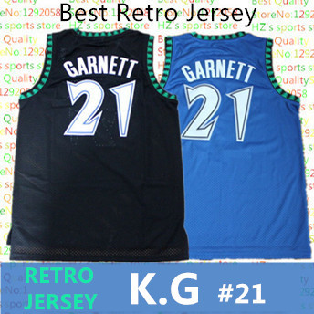 e9e673894ab KG 21 Retro Jersey Cheap Throwback Basketball Jerseys Embroidery logos best  quality Jerseys 21 KG garnett retro jersey