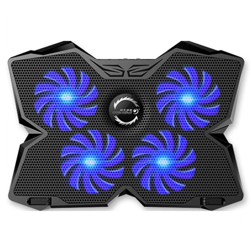 4 Fans Laptop Mute Cooling Pad Quad-core Adjustable Gaming Cooler Radiator Fans Notebook Holder For Laptop Gamer Office Using 12 7mm laptops optical cd drive modified cooling cooler sata interface quiet adjustable speed ventilation turbo fans radiator